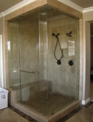 glass shower enclosure doors